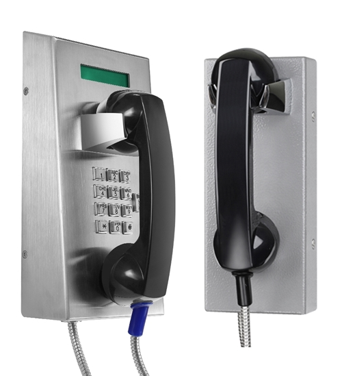 vandal proof heavy duty telephone, vandal resistant prison phones, metal telephones for heavy industrial applications