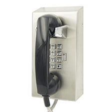 solid steel wall mounted watertight IP65 telephone with volume control