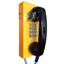 wall mounted solid steel vandal resistant IP65 watertight telephone