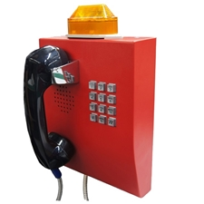 emergency telephone with LED flashing beacon