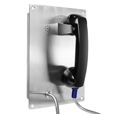 flush mounted auto dial stainless steel telephone, robust and watertight