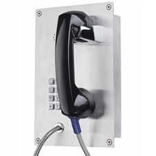 flush mounted in wall stainless steel telephone