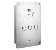 3 button master telephone intercom for emergency, industrial and public application. VoIP, SIP or Analogue or 3G
