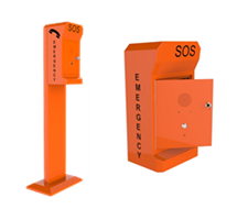 industrial telephone call pillar and infomation point for external application with lockable door, 3G wireless, voip or analogie