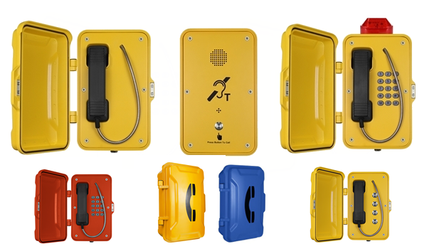 IP66 IP67 Weatherproof telephones, industrial Service and Emergency External Telephones