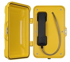 watertight industrial emergency hotline with door