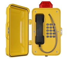 Weatherproof Tunnel Emergency Phone with LED Beacon