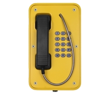 water resistant emergency industrial telephone with full keypad and 9 memory auto-call