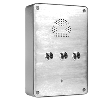 Industrial Wall Mounted Phone Intercom and Point-to-point Intercom with 3 Buttons