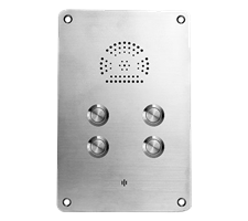watertight robust stainless steel 4 call buton telephone heavy duty intercom