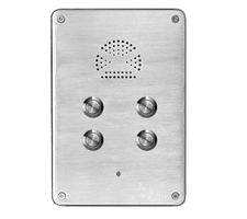 4 call button wall mounted industrial heavy duty telephone or intercom or p2p intercom