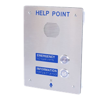 2 button emergency help point hotline intercom stainless-steel braille writting