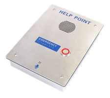 Push to call, 1 call button help point emergency intercom hotline, telephone braille writting for disable customers