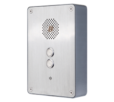 2 Button Wetherproof watertight weatherproof Industrial PTC Hotline or P2P Intercom, Wall Mounted, door entry, relay
