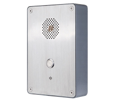 1 Button Wetherproof watertight Industrial PTC Hotline or P2P Intercom, Wall Mounted
