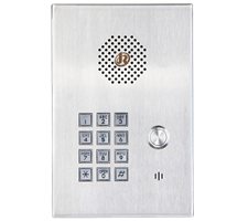 door entry and autodial hands free telephone intercom with keypad