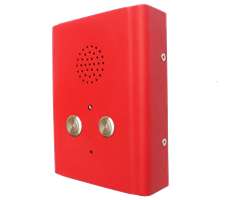 dual button vandal proof wall mounted emergency industrial speakerphone and intercom Watertight IP65