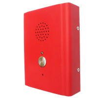 Wall Mounted single Call Button Intercom Or Telephone Made From Tough Vandal Proof Rolled Steel and Finished in Stand Out Colours.