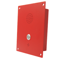 Flush Mounted Single Button Intercom or Telephone made from cold rolled steal - anti vandal robust design