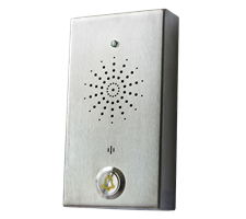 small push-to-call 1 button stainless steel intercom or telephone weatherproof and robust